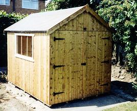 apex shed with double door