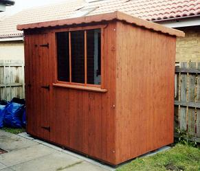 single slope garden shed